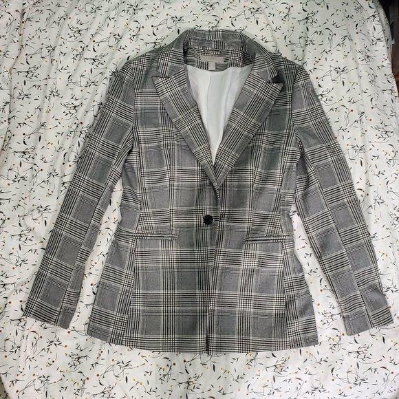 H&M Plaid Blazer